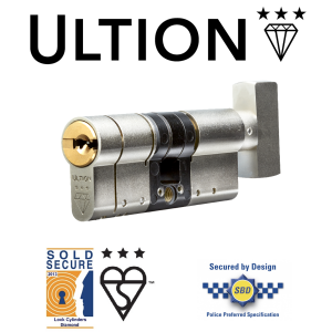 Ultion TS007 3 Star Euro Cylinder - Thumbturn